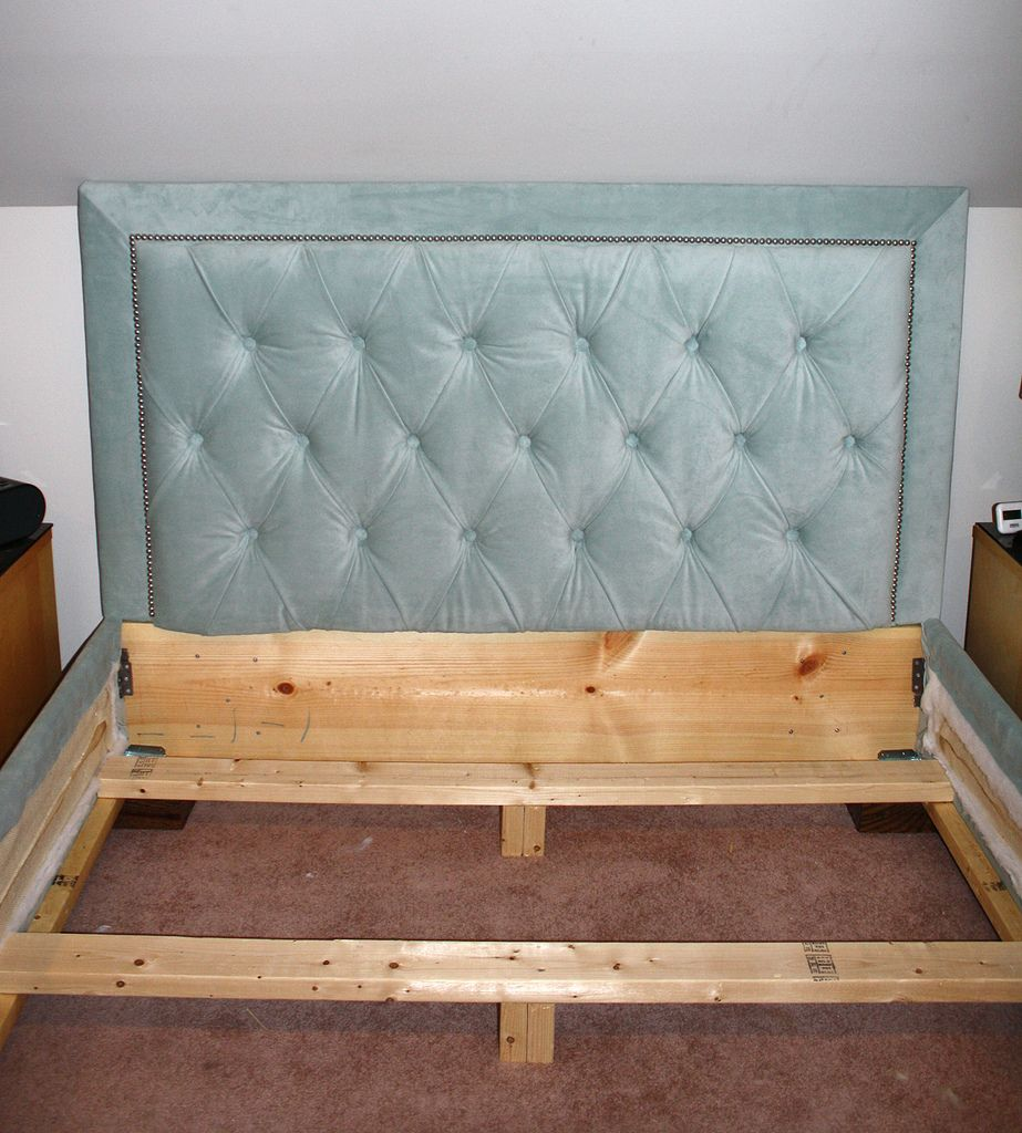 I Made A Tufted Headboard Similar To This But Love The Upholstered Frame Here