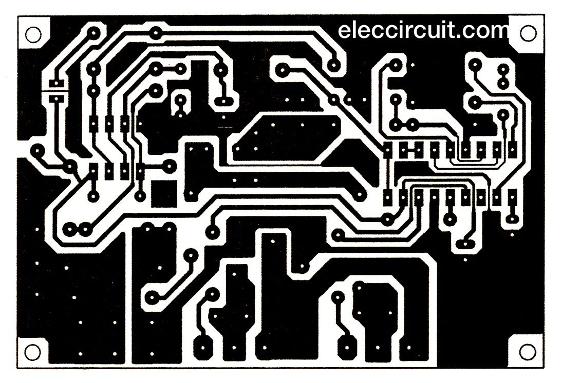 PCB-layout of 200 watts Inverter projects | Inverter projects ...