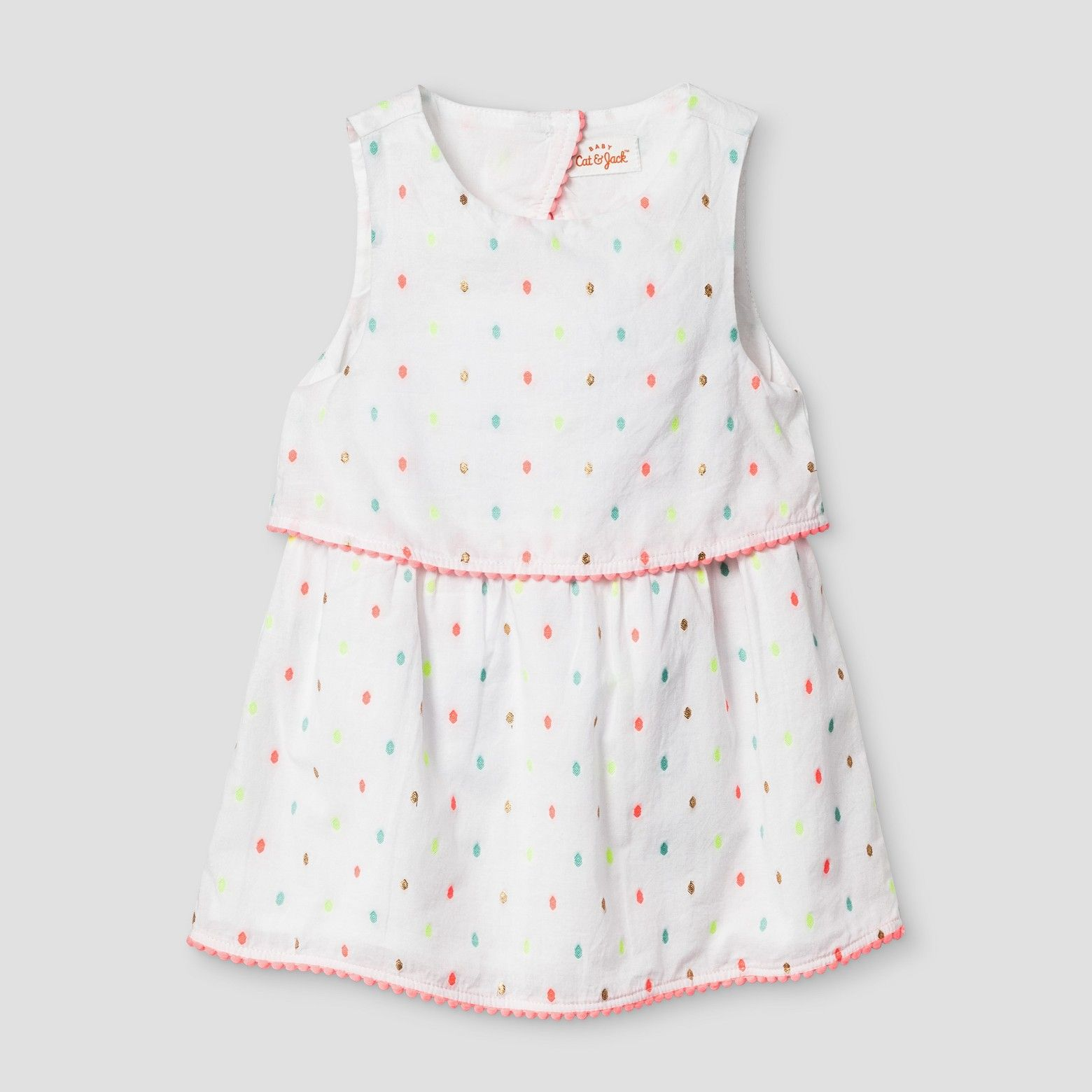 388ebf125047 S17 Baby Girls Clipspot Open-back Dress from Baby Cat   Jack -  13.99