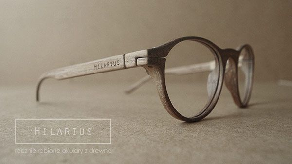 hilarius is a small polish brand specializing in handmade wood frame glasses