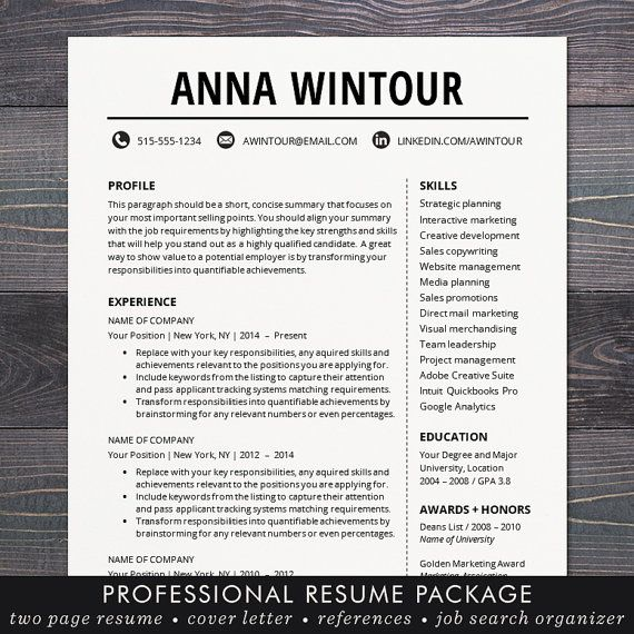 Resume Templates Word Mac Resume Template  Cv Template For Word Mac Or Pc Professional