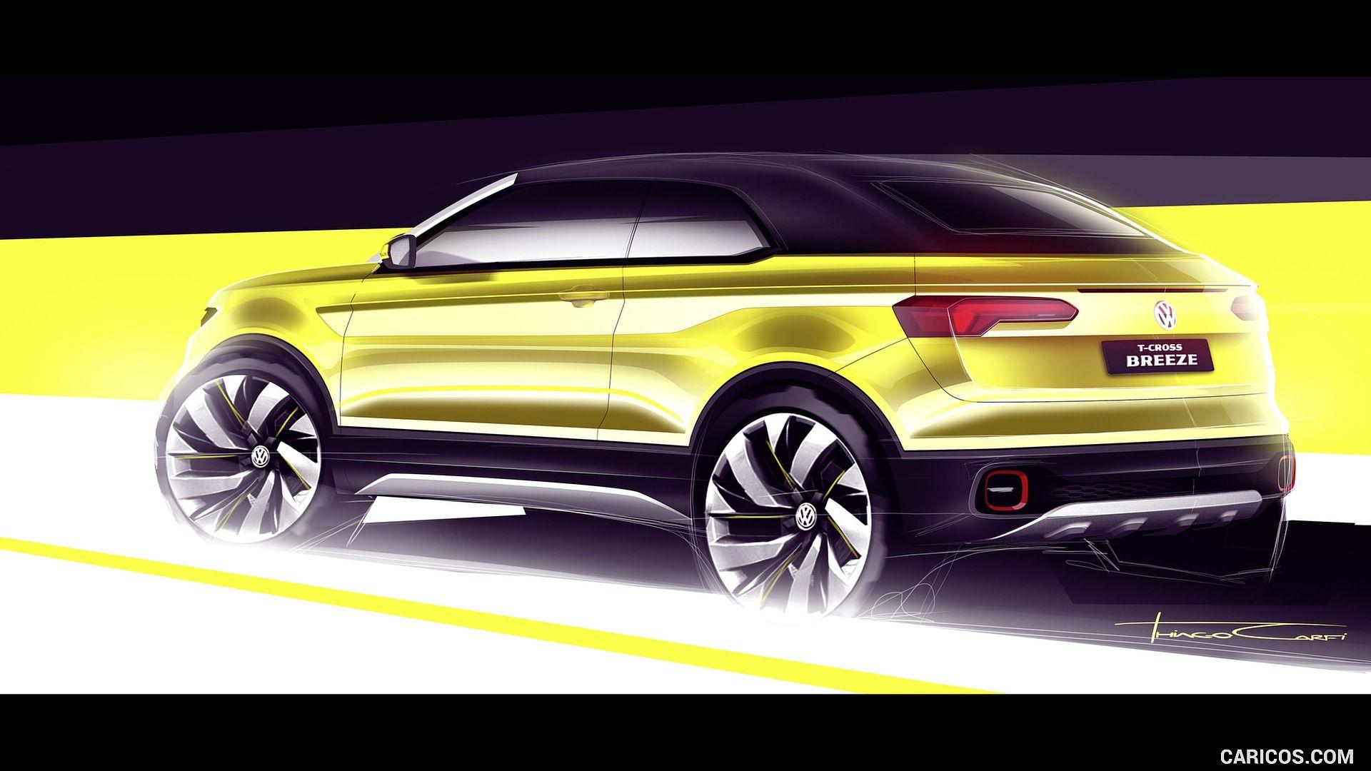 2016 Volkswagen TCross Breeze Concept Design sketch