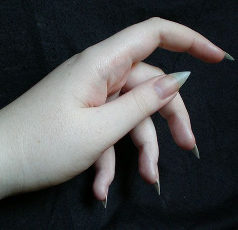natural pointy nails goth voldemort