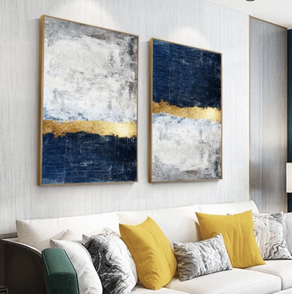 Give Any Open Wall In Your Home A Tasteful Touch Of Glamour With This Painting Print This Canvas Showcases Abstract Wall Art Office Wall Art Wall Art Pictures