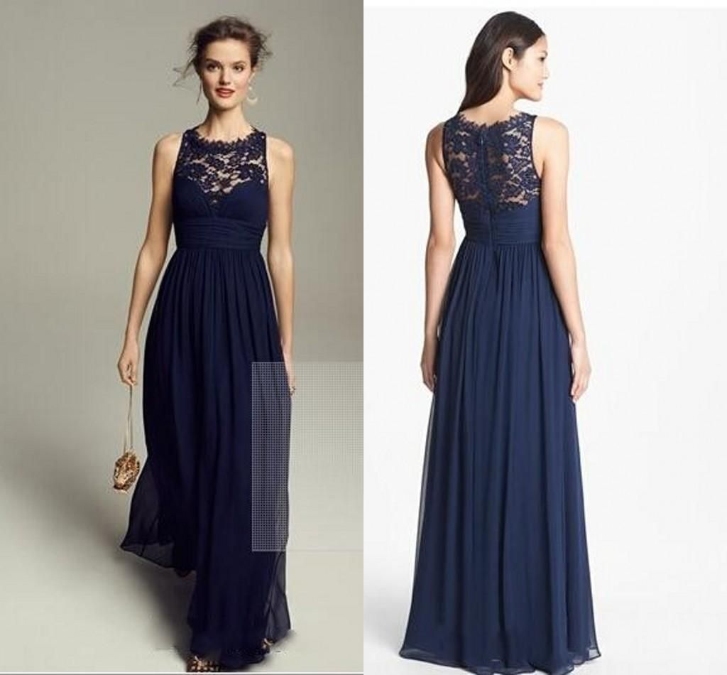 Vintage navy bridesmaid dresses for cheap chiffon maid honor dresses vintage navy bridesmaid dresses for cheap chiffon maid honor dresses long floor length a line beach ombrellifo Image collections