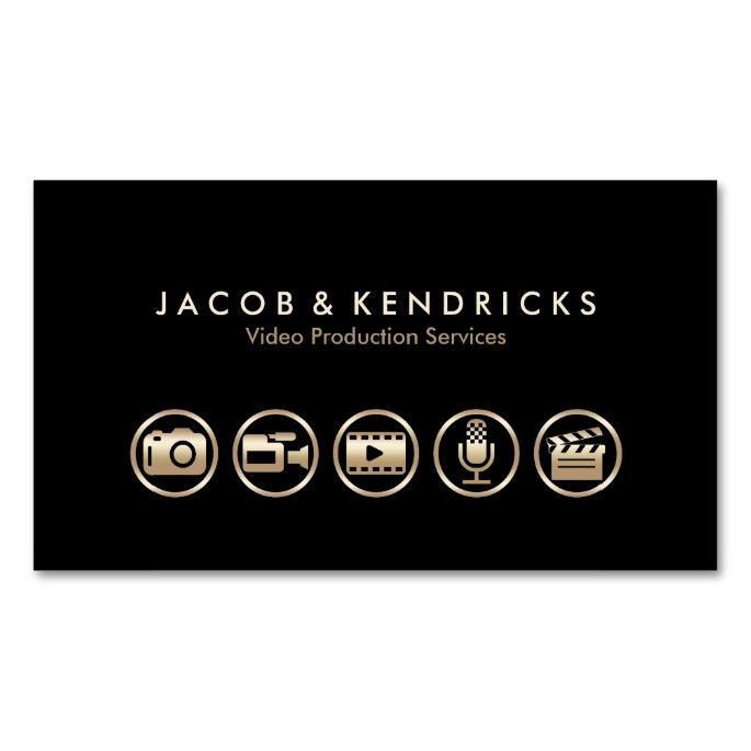 Video production services gold icons business card pinterest video production services gold icons business card make your own business card with this great design all you need is to add your info to this template reheart Images