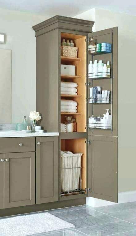 Bathroom Vanity And Linen Cabinet Best Linen Cabinet In Bathroom Ideas On Bathroom Closet Bathr Bathroom Remodel Master Small Master Bathroom Bathrooms Remodel