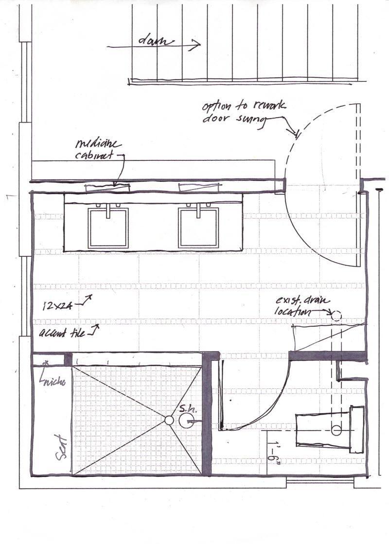 17 Outstanding Bathroom Floor Plan 5x8 To Make Your Floor Plan Look Great Master Bathroom Layout Bathroom Floor Plans Garage Floor Plans