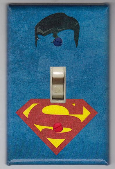 DC Superman Man of Steel  Light Switch Cover Plate