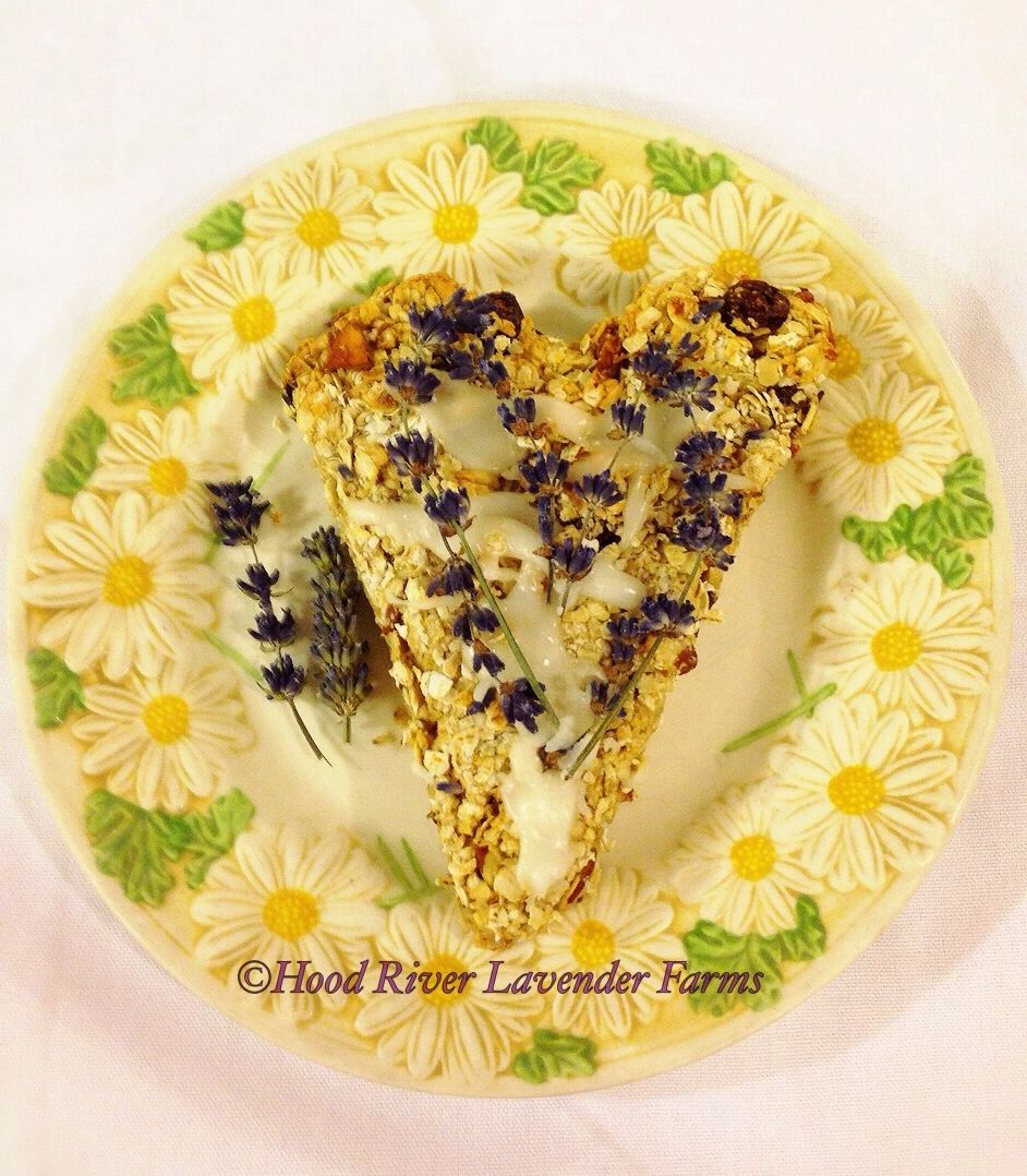 Lavender Oatmeal Scone #hearthealthy #culinary #lavender #oatmeal #almonds #cranberries #hoodriverlavender #food #goodeats #valentinesday
