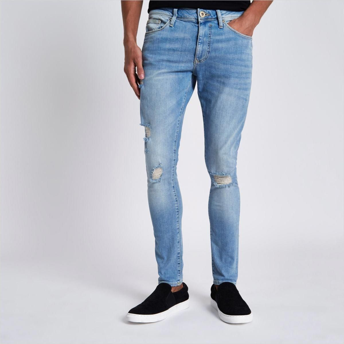 f64c1c28fa22 42 Awesome Light Ripped Jeans Outfit 12 Light Blue Danny Ripped Super Skinny  Jeans Super Skinny Jeans Men 5  JeansRipped