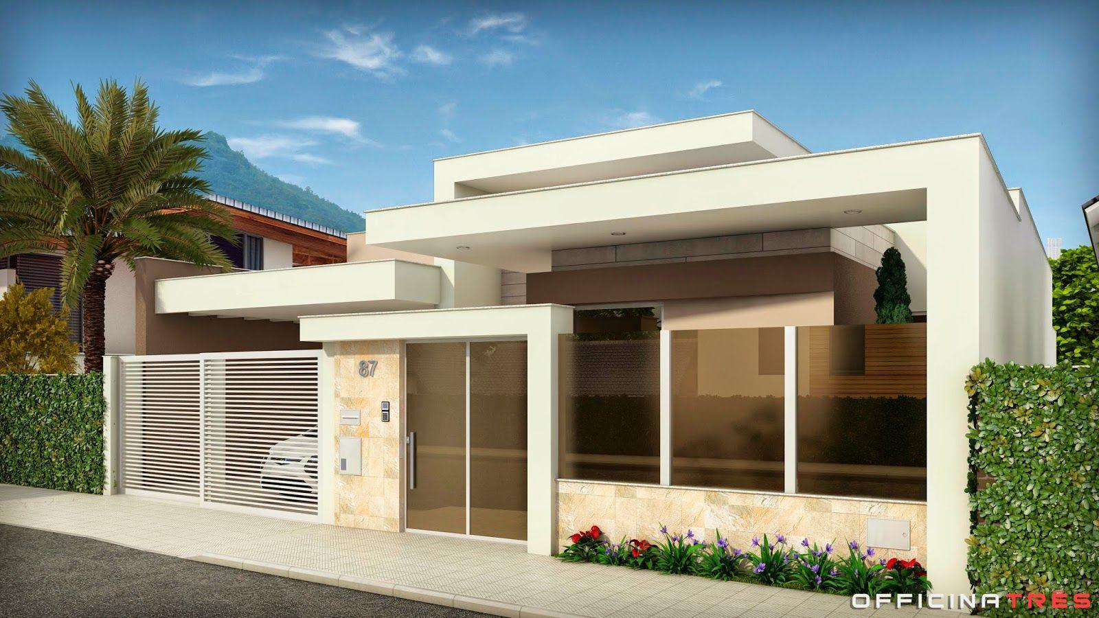 decoração casas modernas Pesquisa Google Fachadas de