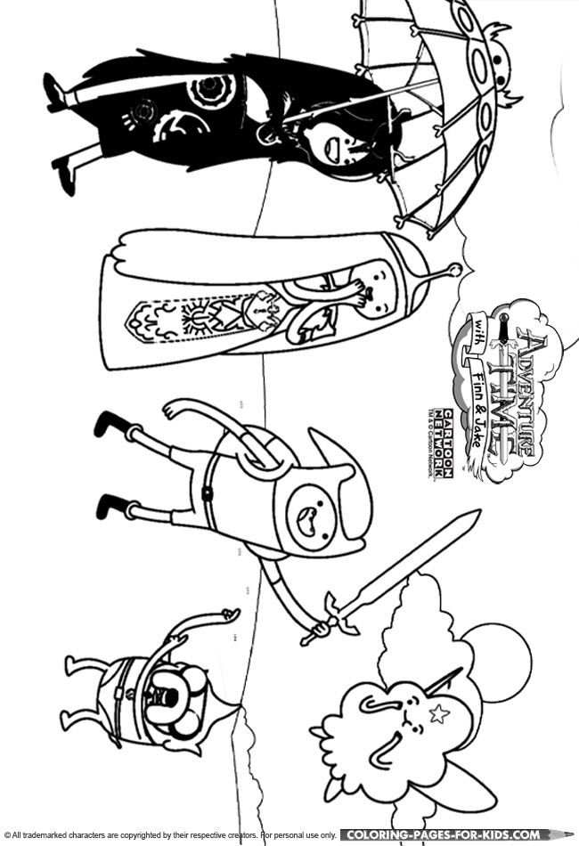 Adventure Time coloring page for kids | Adventure time ...