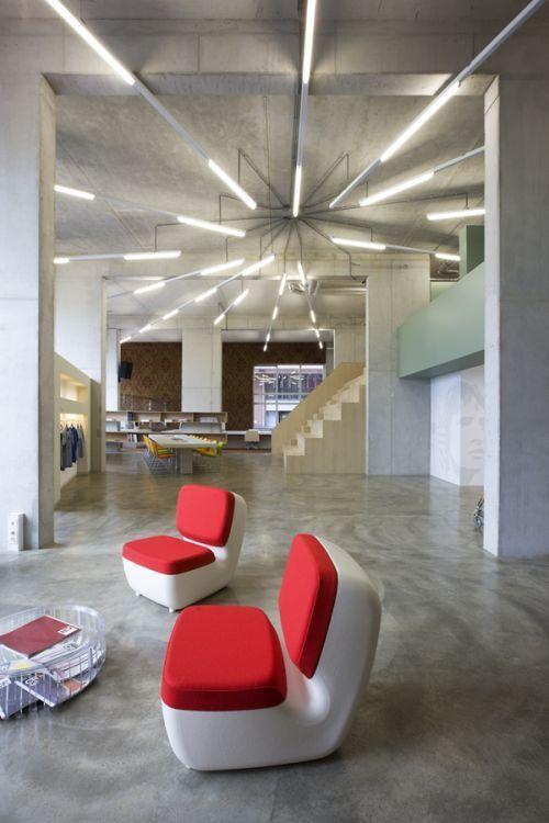 Delightful Inspiration: Creative Fluorescent Lighting Arrangements   Office Snapshots    Orientación De Luz
