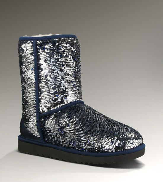 Navy & Silver Sequin Ugg Boots