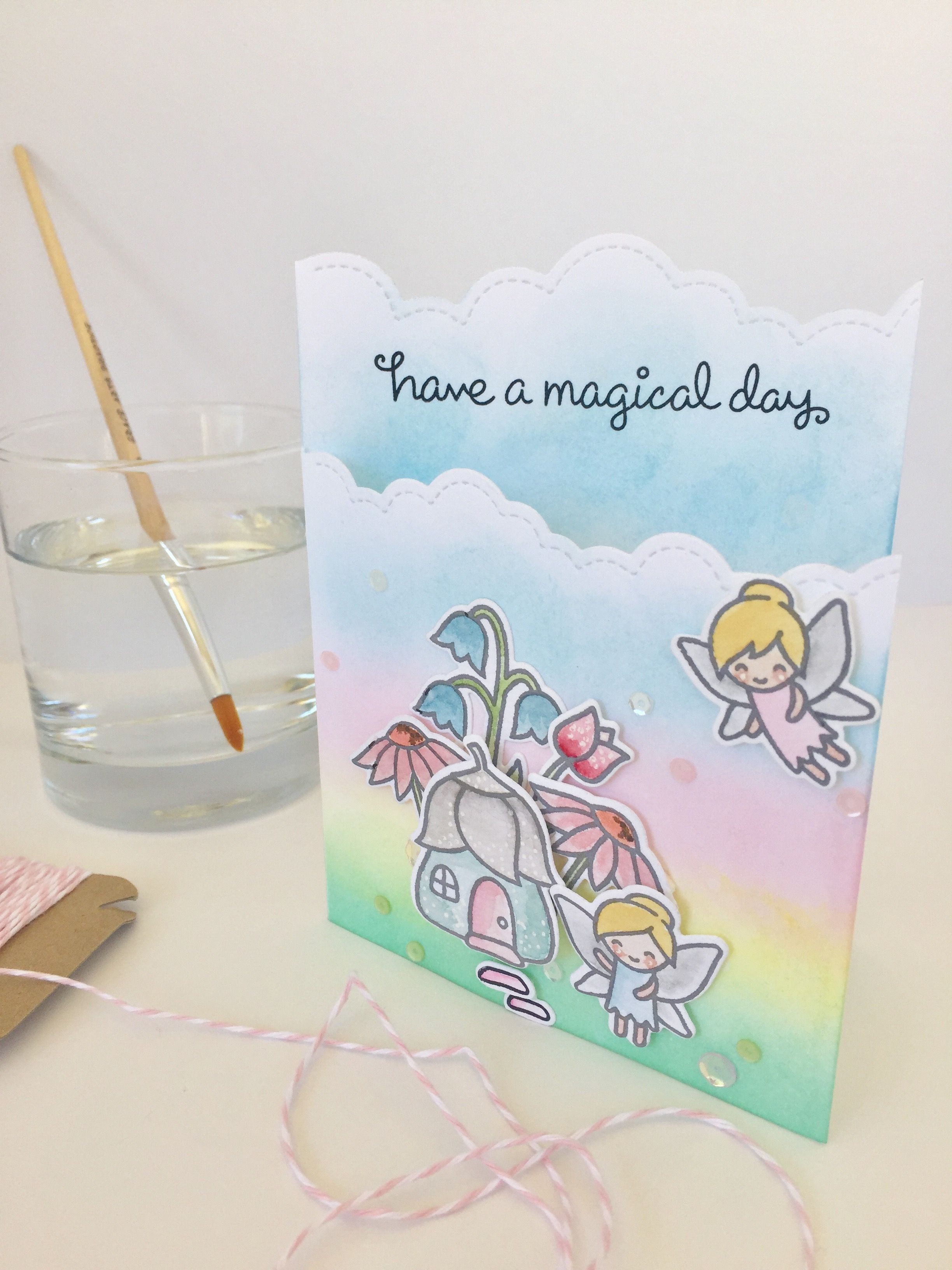 Fairy Friends Lawn Fawn Card by Nicky Noo Cards nickynoocards