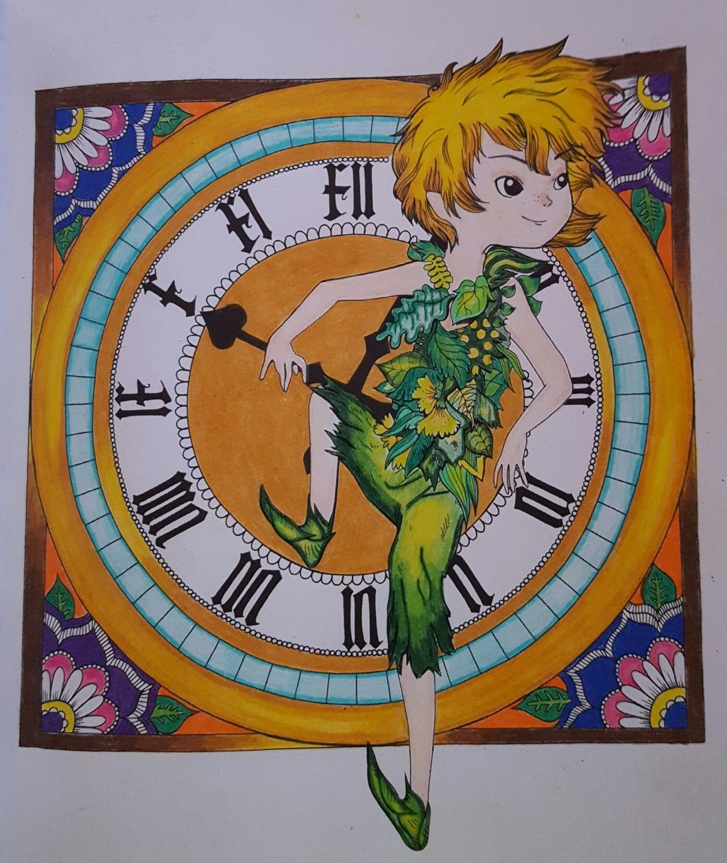 Peter pan by fabiana attanasio | Peter pan coloring pages ...