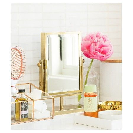 West Emory Two Sided Gold Vanity Mirror Target Gold Vanity