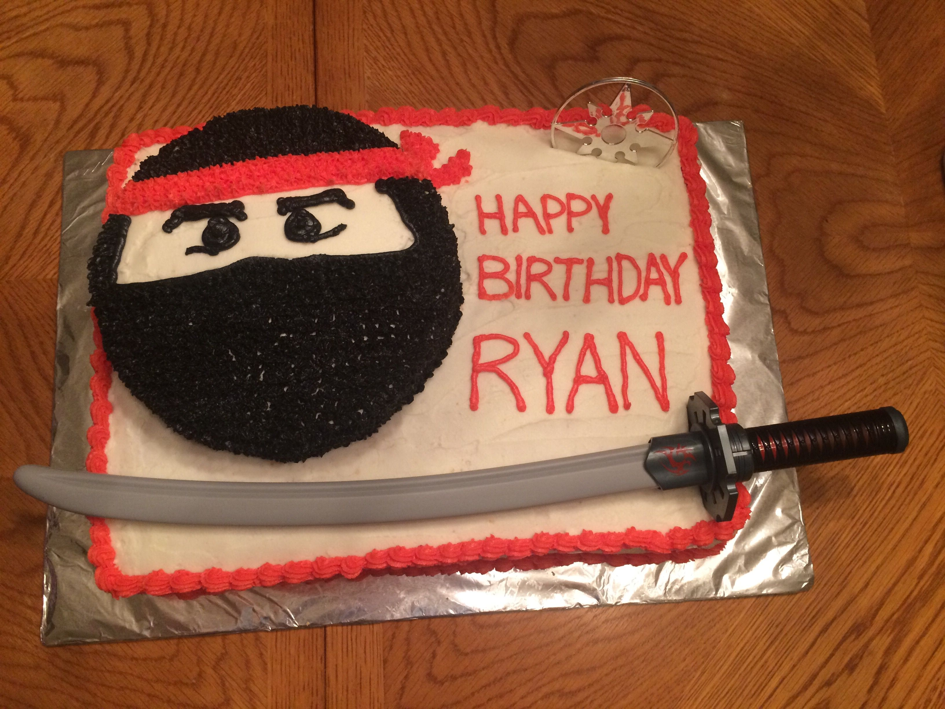 Ninja sheet cake with 8