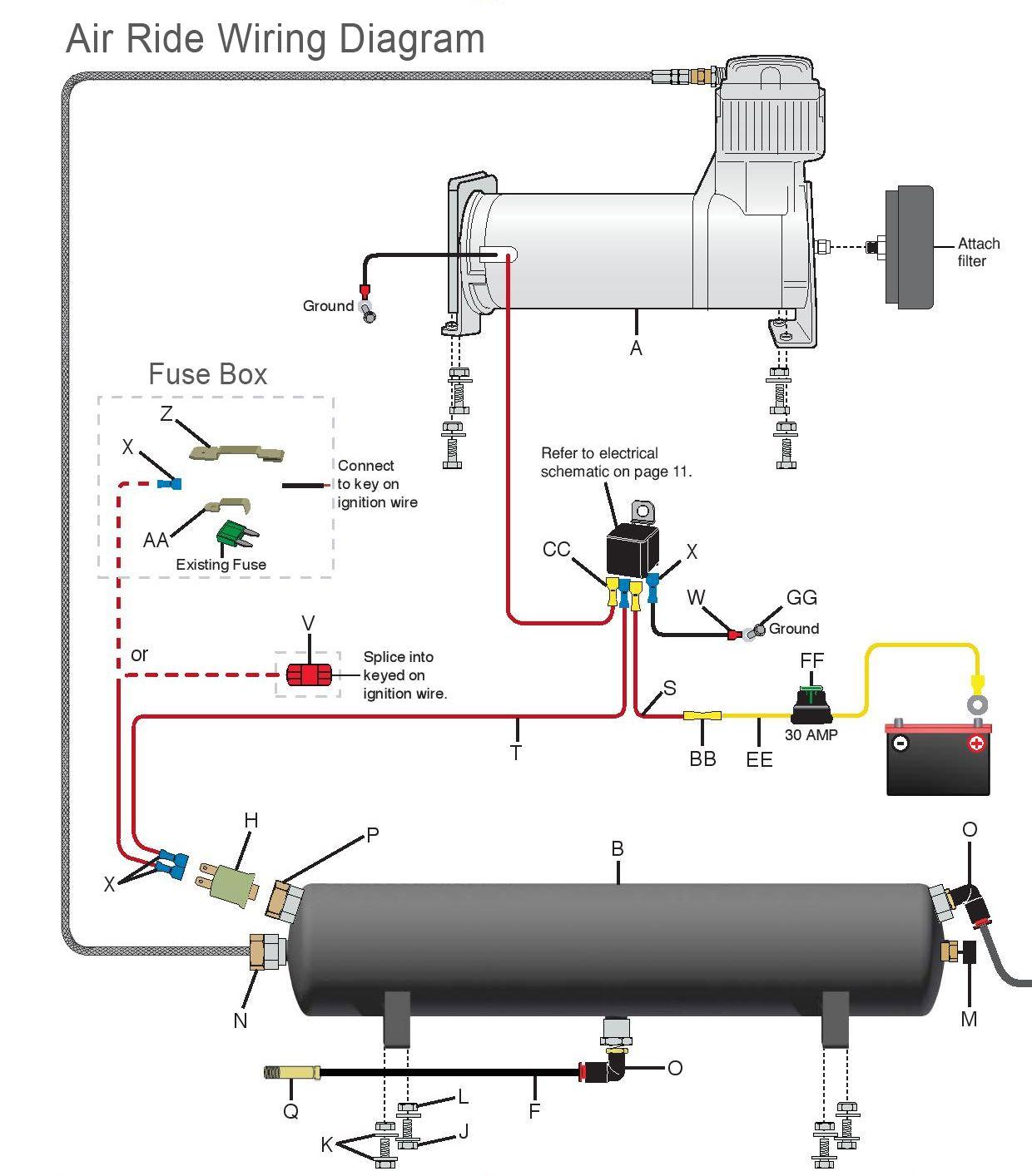 air suspension wiring diagram  manual air ride management
