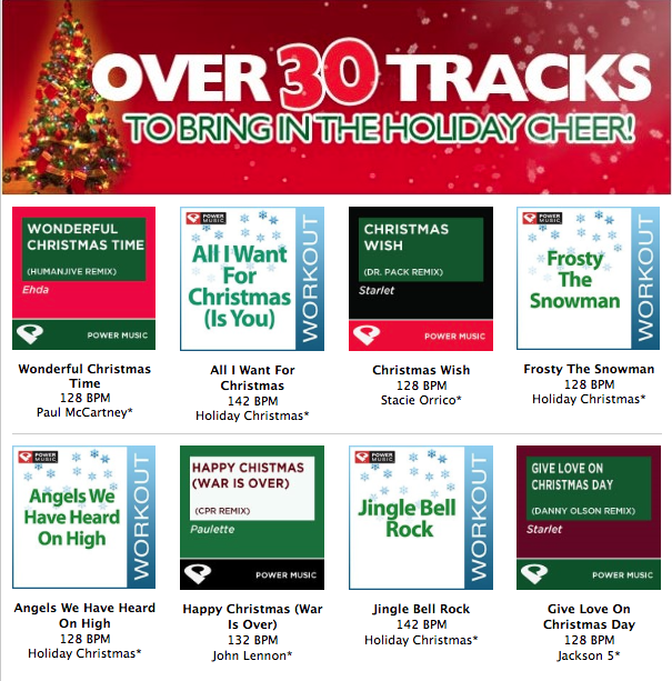 Go Make A New Holiday Playlist For Your Classes This Week Holiday Playlist Workout Music Stacie Orrico