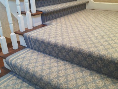 Carpet Applied Using Waterfall Installation. Porshim From Wilton Carpets,  Available Through Stark Carpet. Carpet Stairs ...