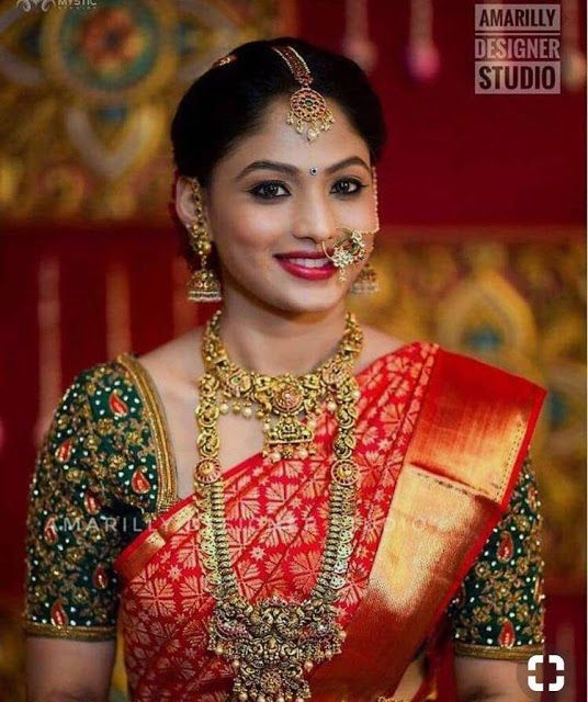 Traditional Jewelry For Red Bridal Sarees Wedding Saree Collection Bridal Silk Saree Wedding Saree Blouse Designs
