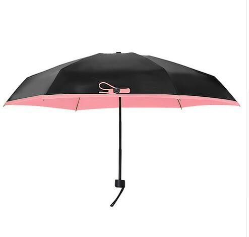 195g Mini Fashion Folding Umbrellas Small Sun Parasol Umbrella Rain Women Mini Pocket Umbrella Women Sunny and Rainy Umbrella