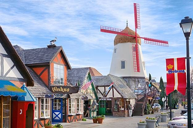 RP: Solvang-- little Danish village in the Santa Inez valley. Shopping, wine tasting, a beautiful old mission, and baked goods!
