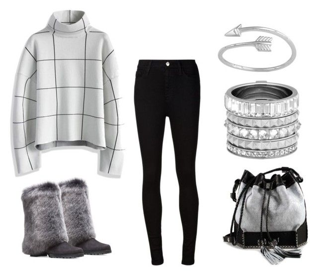 """Gray and Black"" by tlb0318 on Polyvore featuring AG Adriano Goldschmied, Chicwish, Carianne Moore, Henri Bendel, women's clothing, women's fashion, women, female, woman and misses"