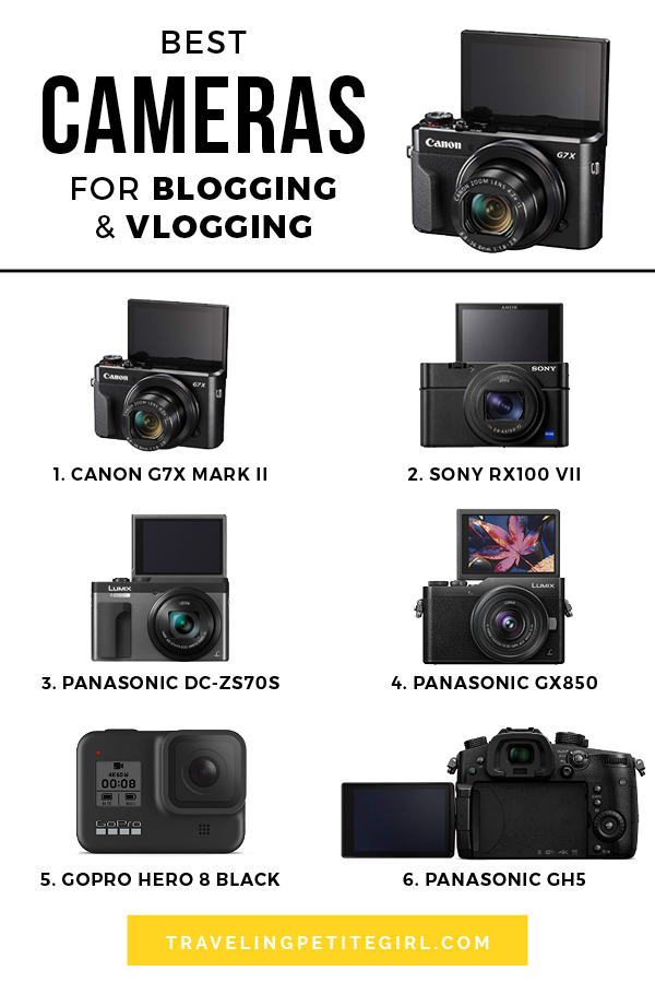 If you have a blog or a Youtube channel and you're thinking of getting a camera, here are the best cameras for blogging and vlogging! #blog #cameras #youtube