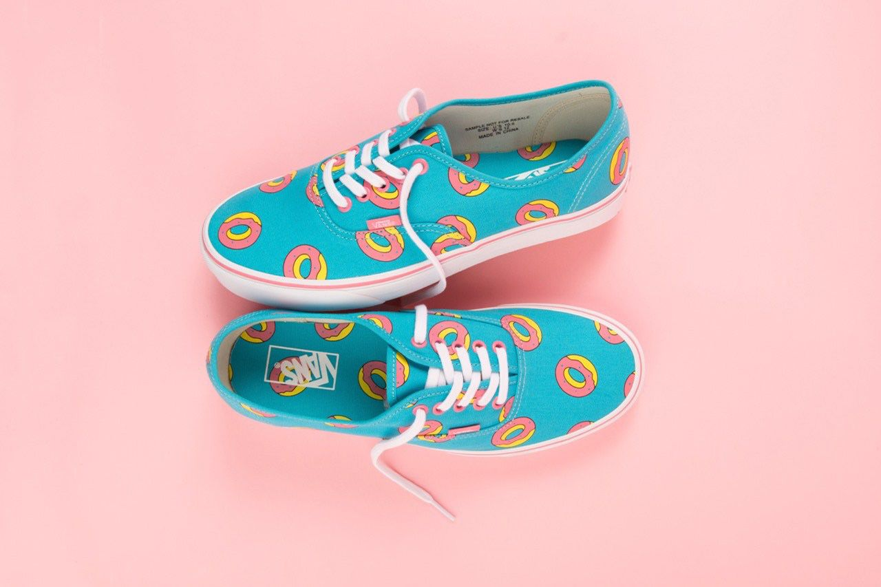 9915cfb75253 Odd Future x Vans Donut Print Footwear Collection · HUH.
