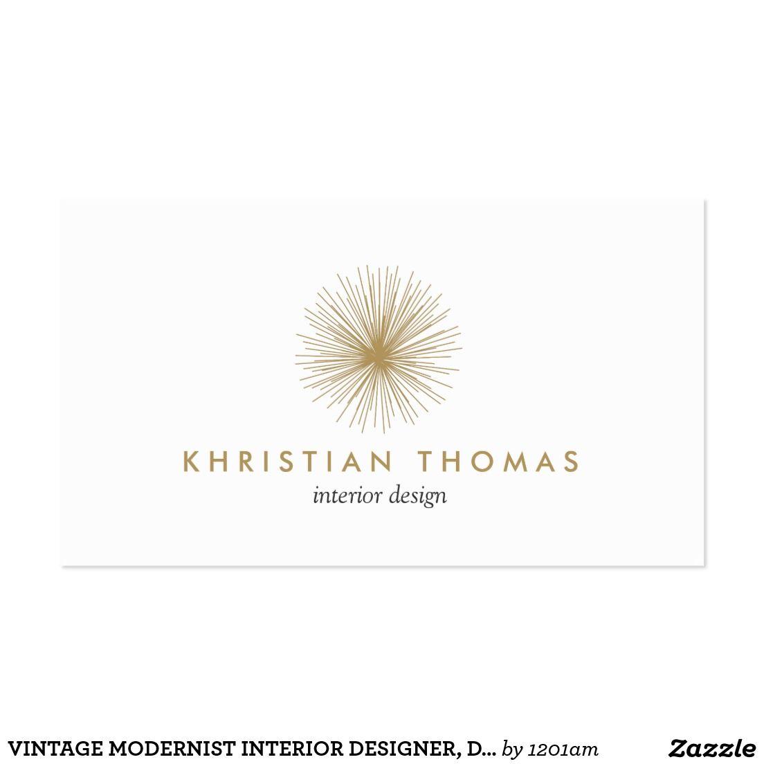 Profile Card Business Cards Interior Designer Pinterest