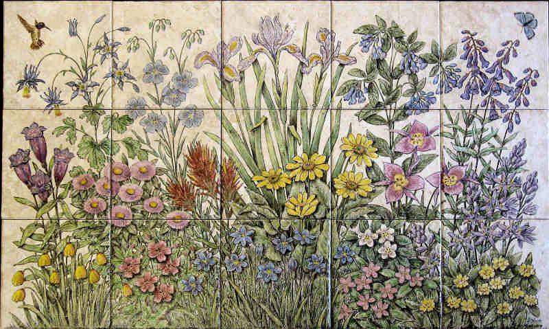 Iris Tile Mural View Of Quot Marsha S Idaho Wildflowers