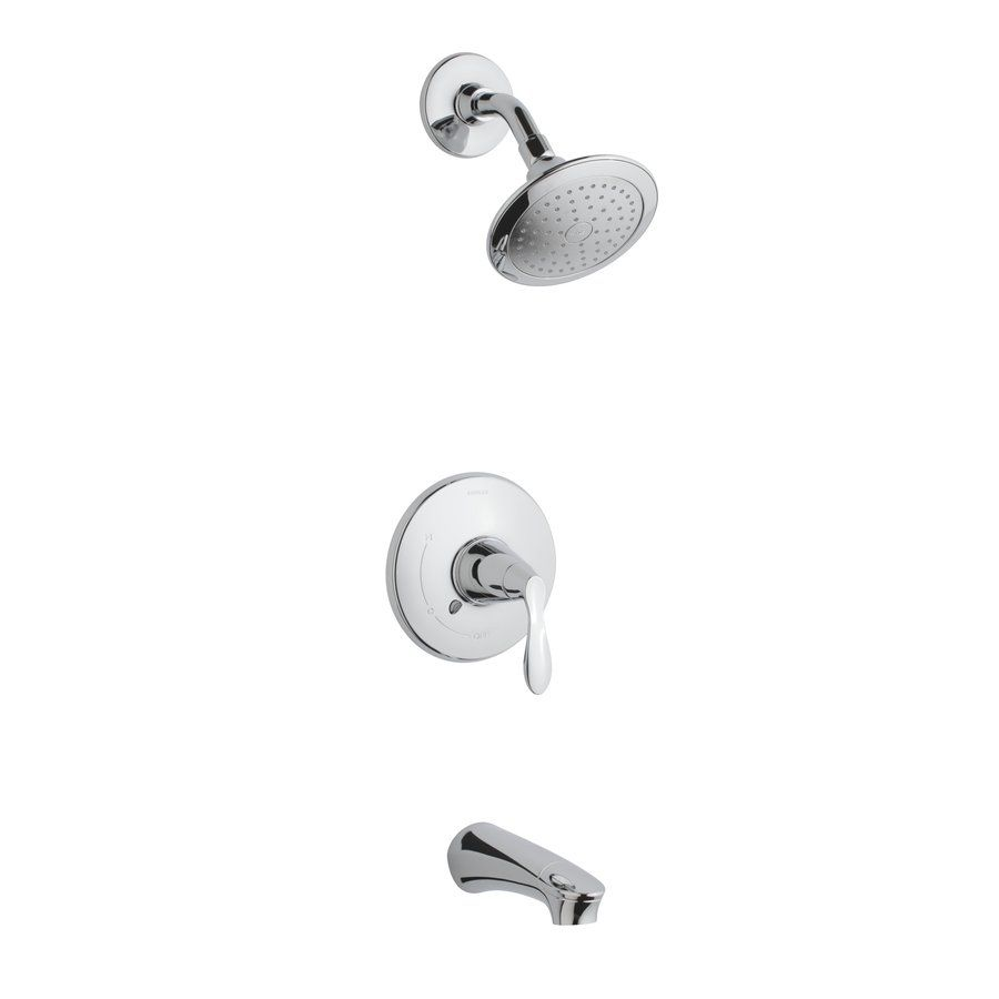 KOHLER Cavata Polished Chrome 1 Handle Tub U0026 Shower Faucet With Single  Function Showerhead