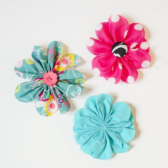 These cute 5 inch fabric flowers are really easy to make and are perfect to embellish so many types of projects!