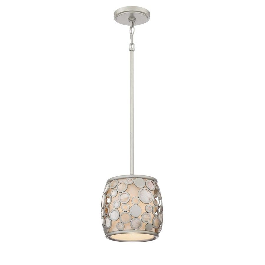 Shop style selections fairgate 8 in w silver mini pendant light with shop style selections fairgate w silver mini pendant light with fabric shade at lowes canada find our selection of mini pendant lights at the lowest price aloadofball Images