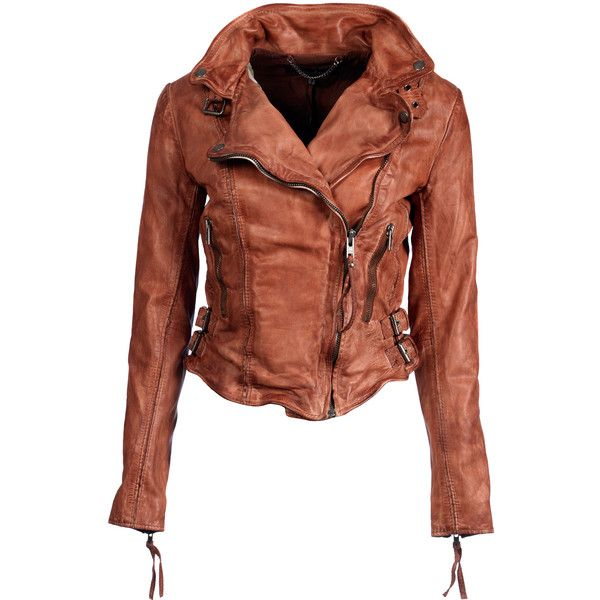 Flax raw seam biker vintage tan ($240) ❤ liked on Polyvore featuring tops, brown tops, vintage tops, zip top, buckle tops and biker tops