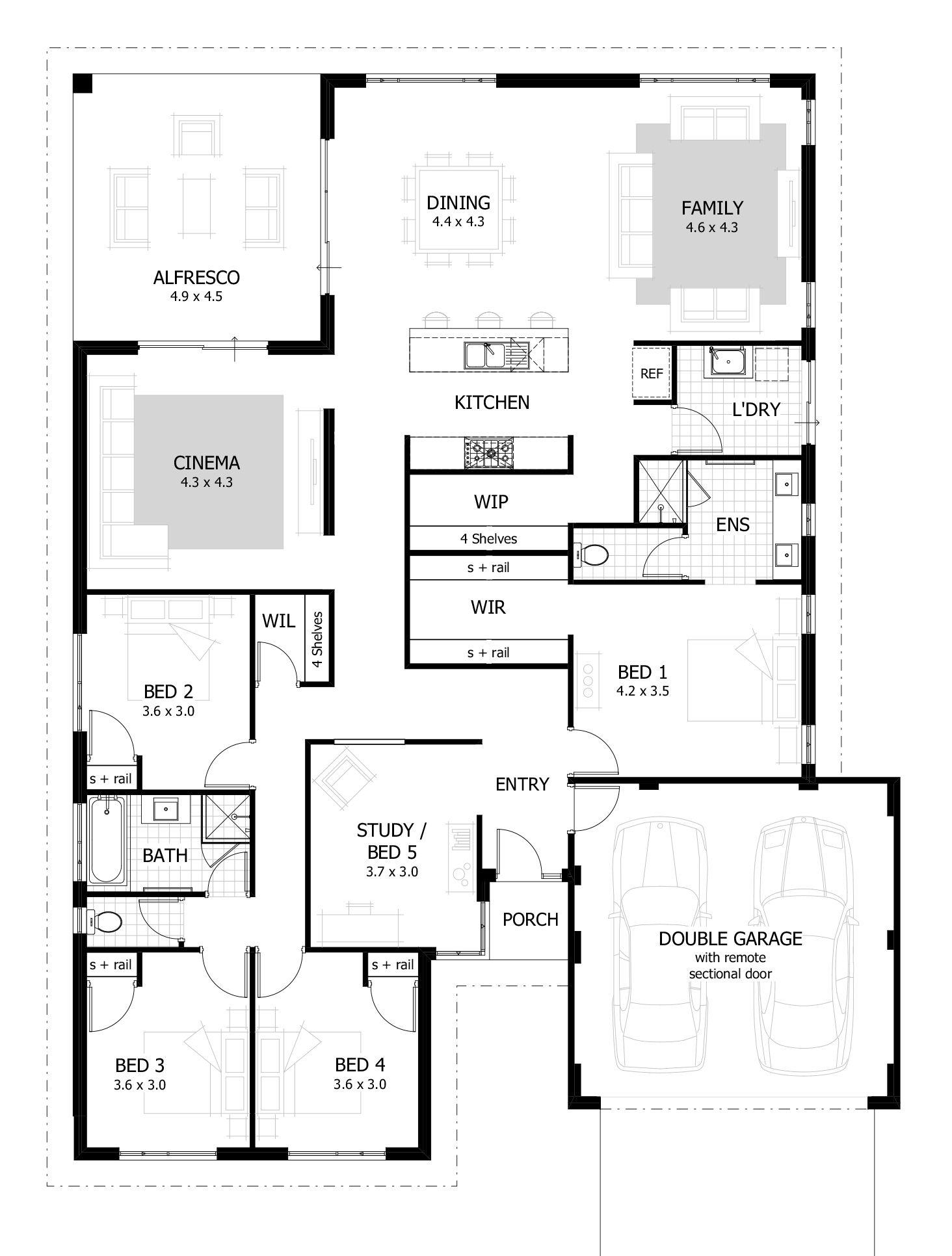 4 Bedroom House Plans Home Designs Celebration Homes Floor Plan Design Free House Plans Four Bedroom House Plans