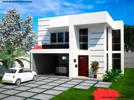 Projetar casas planta de lindo sobrado com 3 su tes 2 for Fachadas de casas modernas em belo horizonte