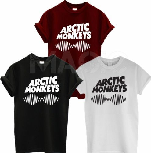 3dd09b99b7bd68 Arctic Monkeys Sound Wave T Shirt Tee Top Rock Band Concert - Album High