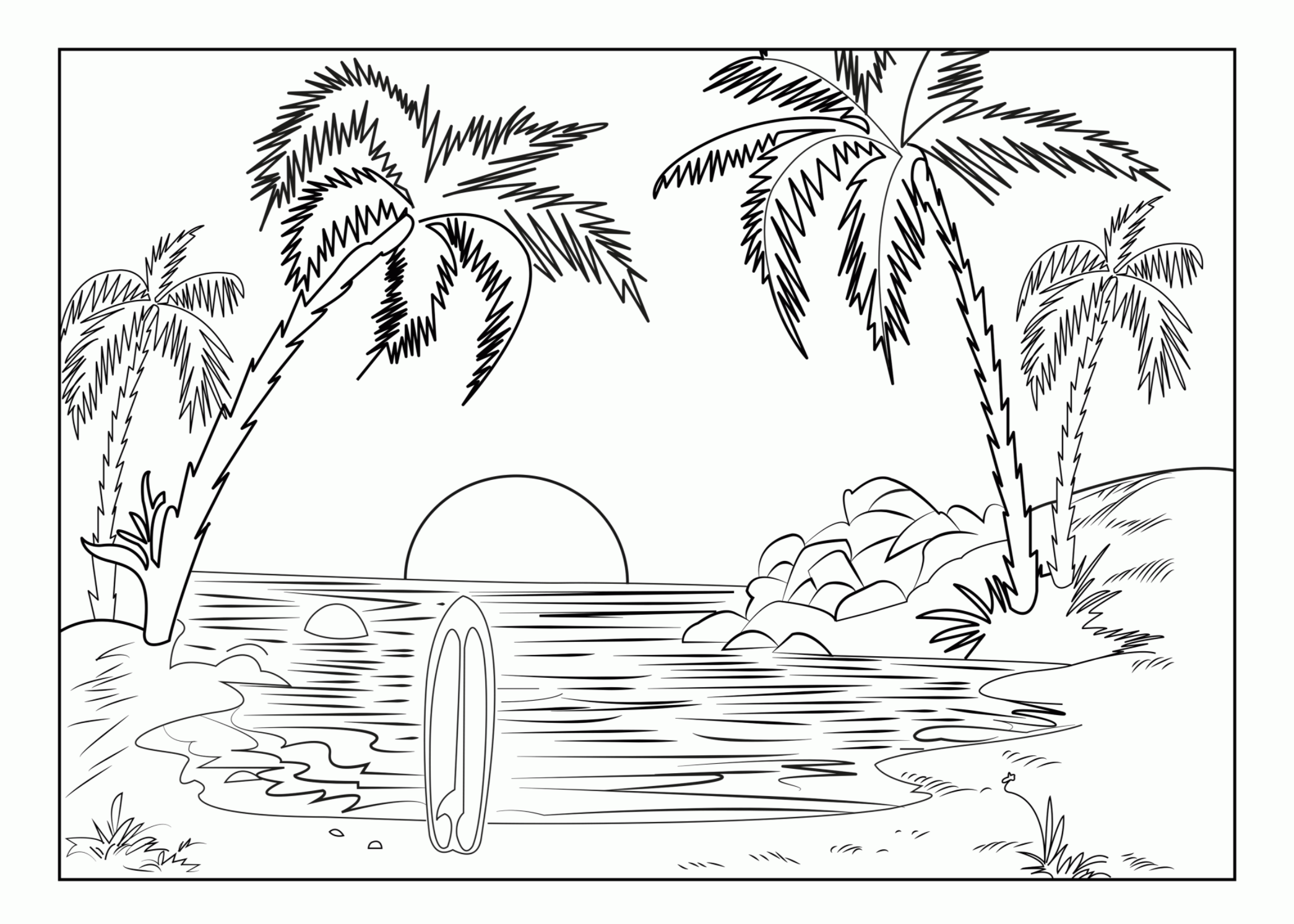 Pin By Saas Transportation Inc On Coloring Pages In 2020 Coloring Pages Nature Beach Coloring Pages Summer Coloring Pages