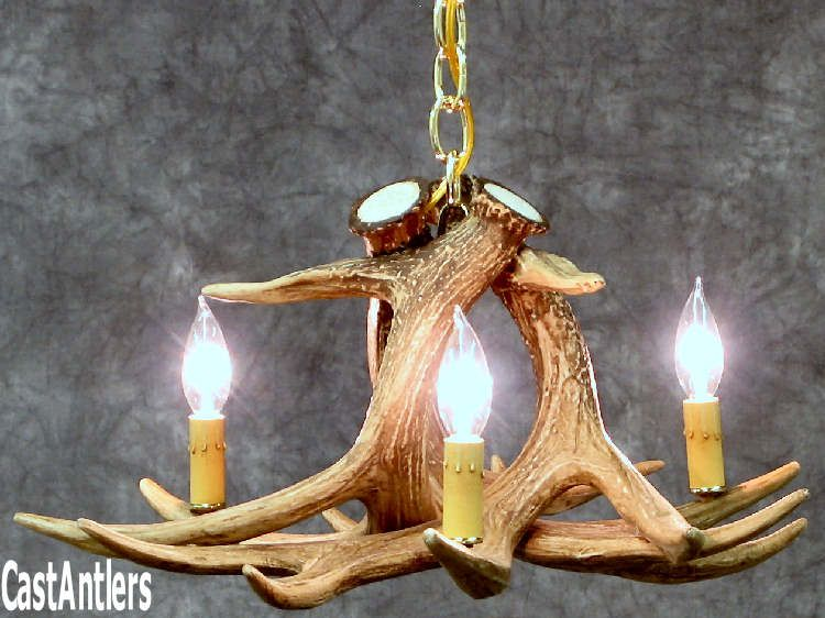Antler chandeliers whitetail 3 cast antler chandelierpendant antler chandeliers whitetail 3 cast antler chandelierpendant rustic mozeypictures Images