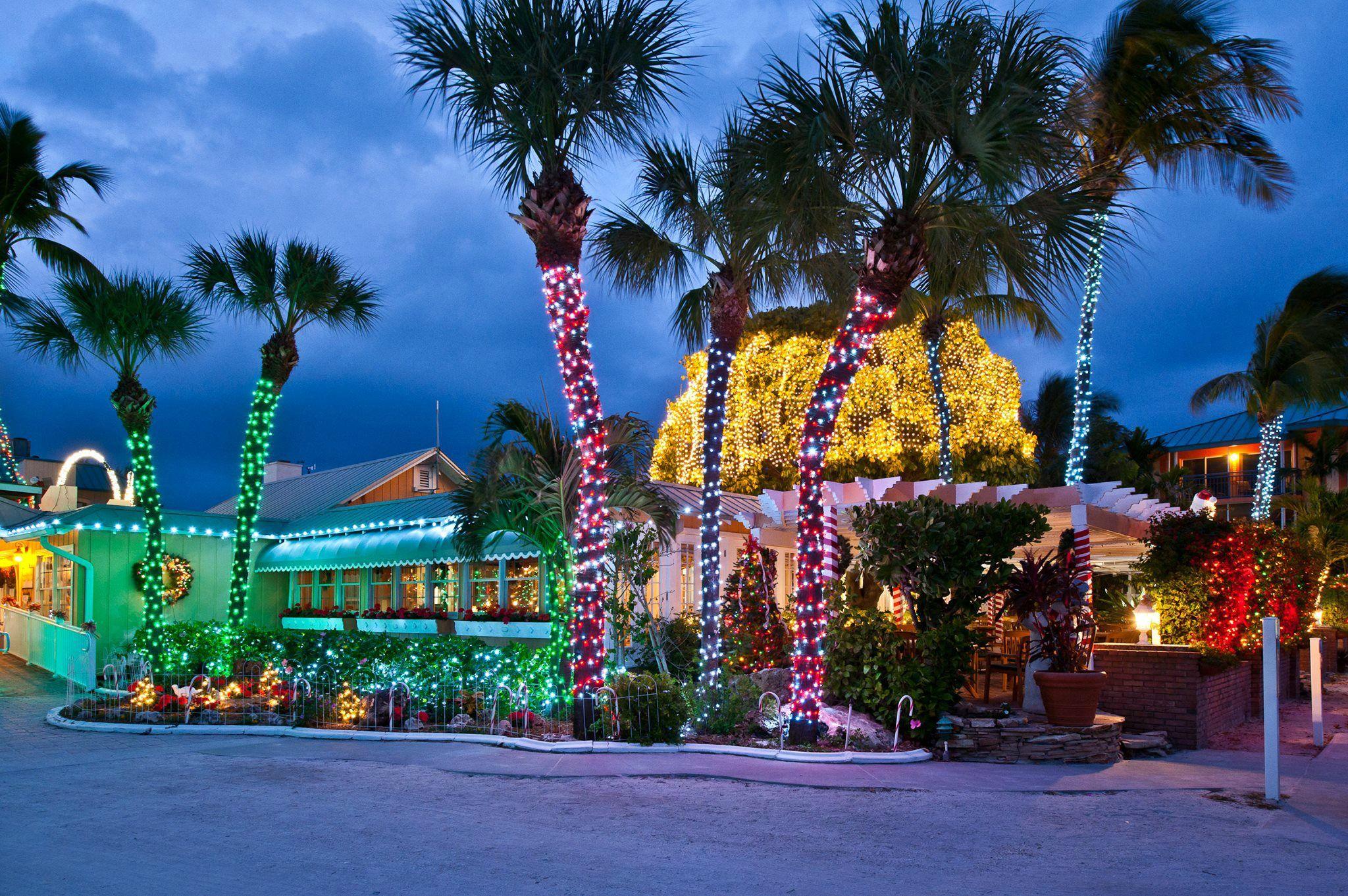 Dazzling decorations at tween waters inn beach resort on