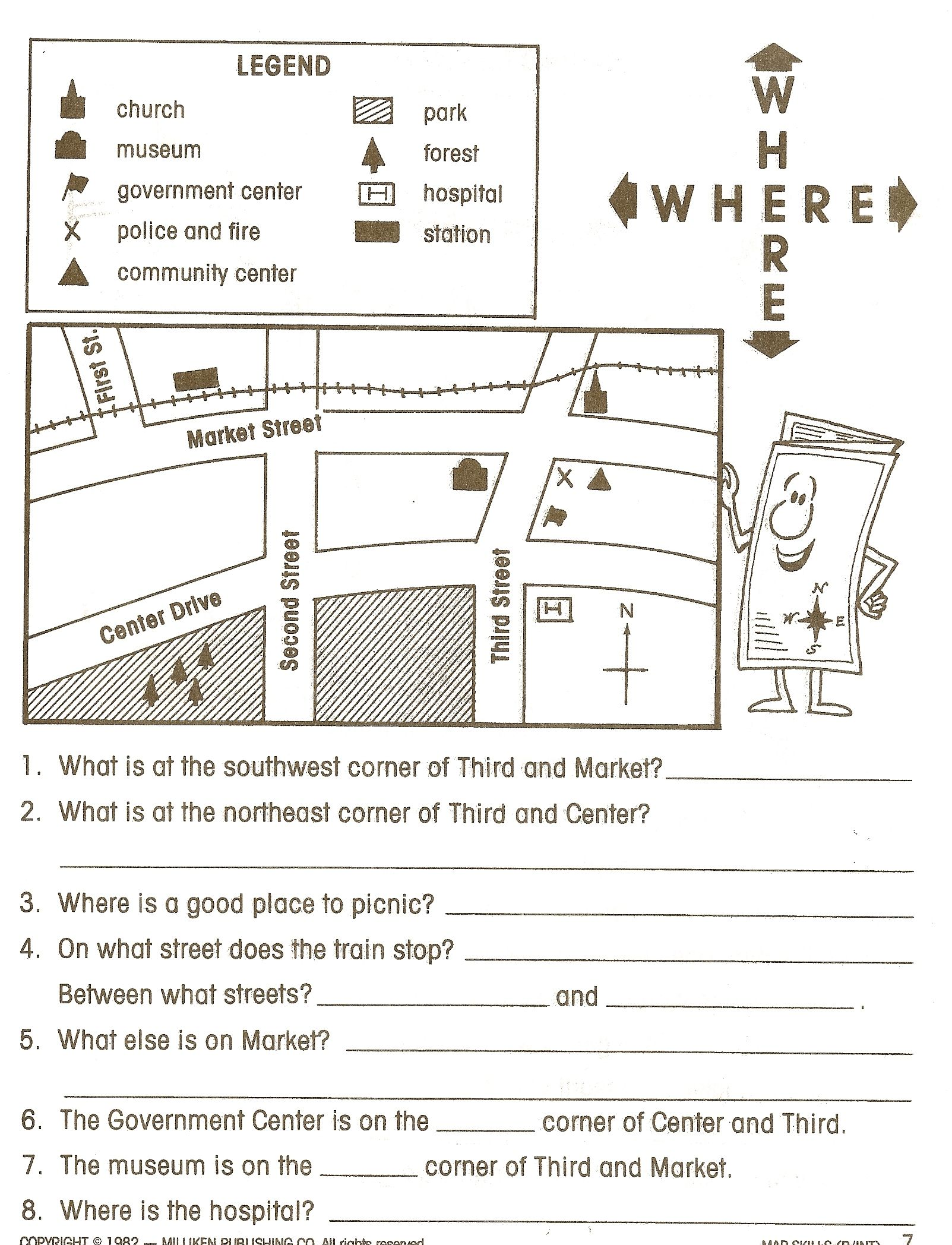 small resolution of social studies worksheets - Google Search   Map skills