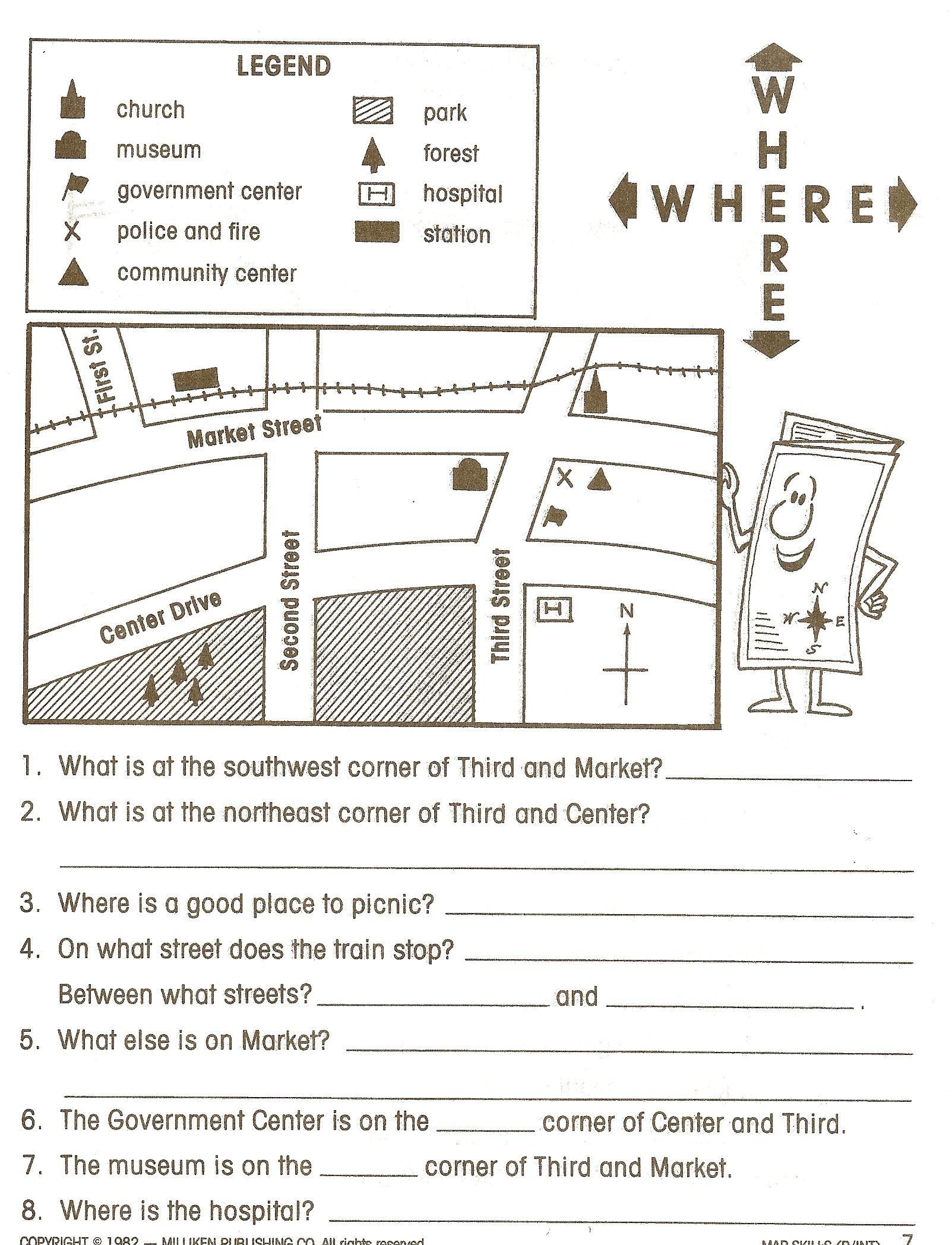 social studies worksheets - Google Search   Map skills [ 2096 x 1603 Pixel ]