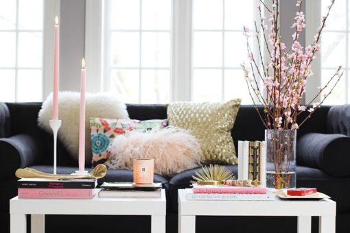 gray-black-pink-gold-living-room