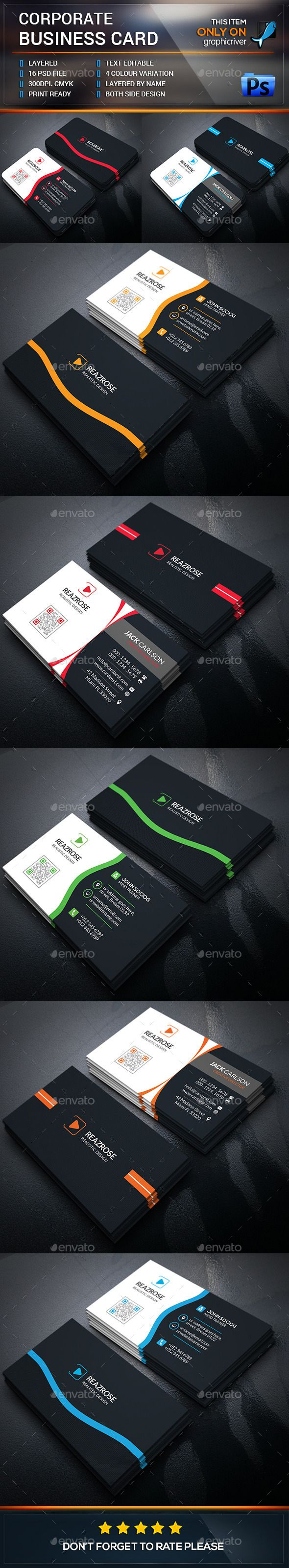 Business Card Bundle Template #design Buy Now: http://graphicriver ...