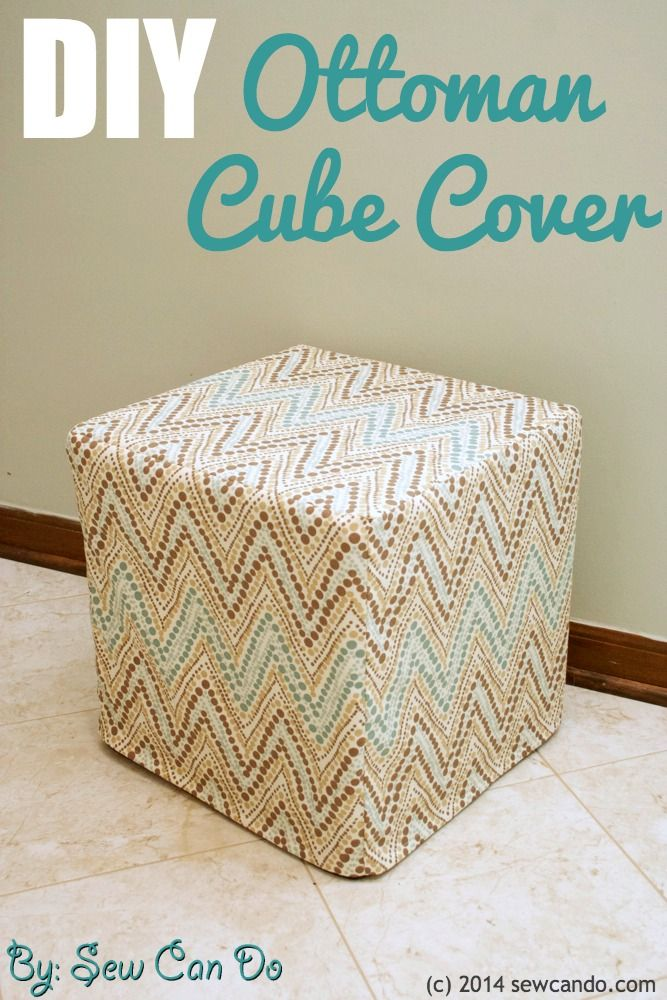 sew can do diy custom ottoman cube cover tutorial. Black Bedroom Furniture Sets. Home Design Ideas