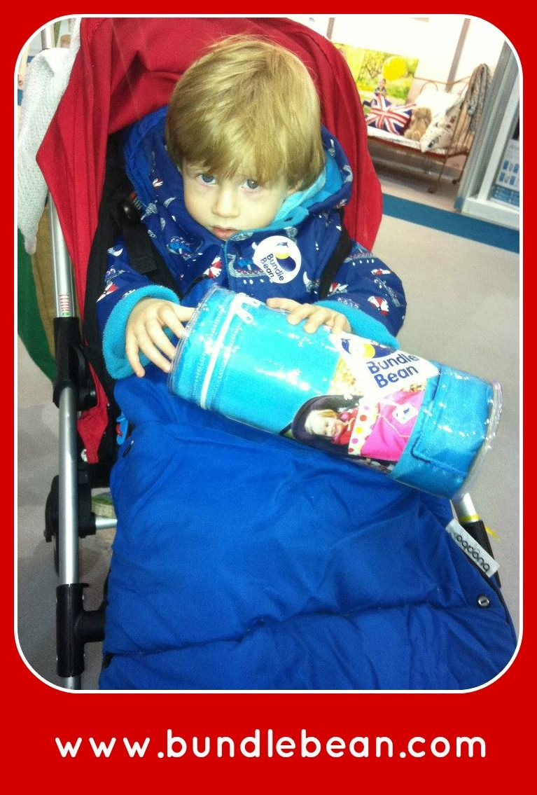 ....and a blue BundleBean Go £29.99 for this little lad.  The waterproof shell will keep him totally dry and the fleece inner all cosy this autumn - whether he's in his buggy or even his #childbikeseat. #beanswithbundles